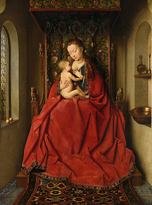 Madonna Painting - Lucca Madonna by Jan van Eyck