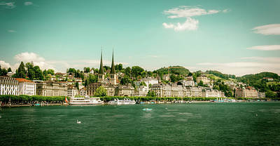 Photograph - Lucerne Panorama by Wolfgang Vogt