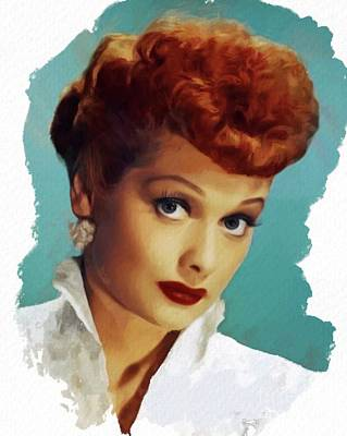 Musician Royalty-Free and Rights-Managed Images - Lucille Ball, Actress by Mary Bassett