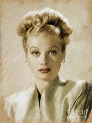 Painting - Lucille Ball, Vintage Actress by Mary Bassett