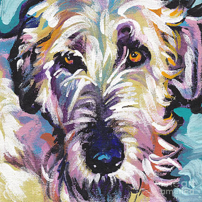 Dog Painting - Luck O The Irish by Lea S