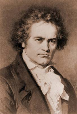 Rire Photograph - Ludwig Van Beethoven 1770-1827 by Everett