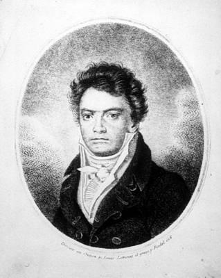 Beethoven Photograph - Ludwig Van Beethovencsueverett by Everett
