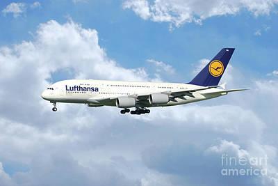 Lufthansa Airbus A380 Art Print