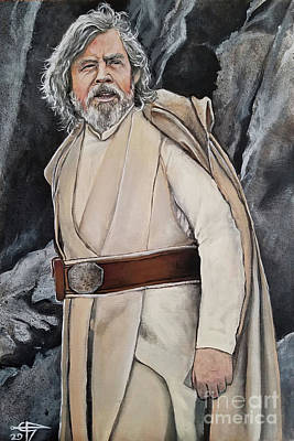 Painting - Luke Skywalker by Tom Carlton