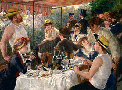 Domestic Painting - Luncheon Of The Boating Party by Pierre-Auguste Renoir