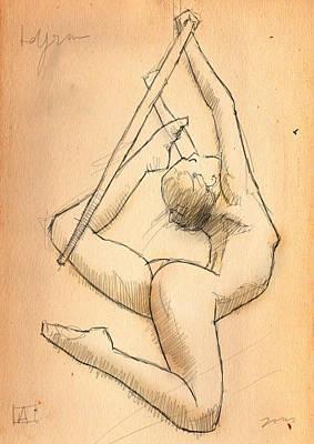 Circus Drawing - Lyra by H James Hoff