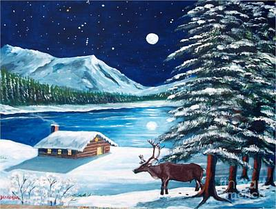 Painting - Ma Cabane Au Canada by Jean Pierre Bergoeing