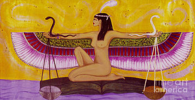 Snake Scales Painting - Maat by Diveena Seshetta