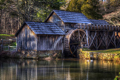 Mabry Mill Art Print by Steve Hurt
