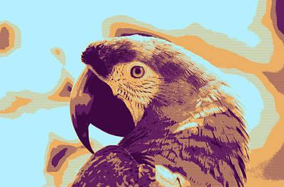 Photograph - Macaw by Artistic Panda