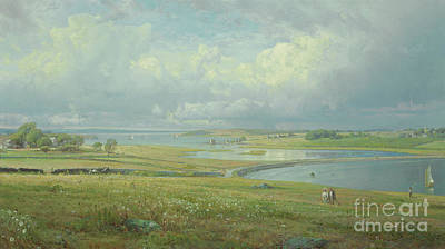 Painting - Mackerel Cove, Jamestown, Rhode Island by William Trost Richards