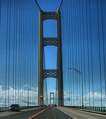 Photograph - Mackinac Bridge by Farol Tomson