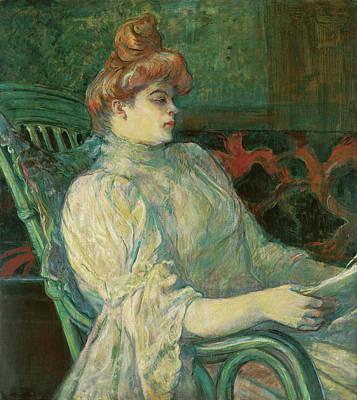 Profile Painting - Madame Marthe X, Bordeaux by Henri de Toulouse-Lautrec