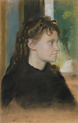 Pastel - Madame Theodore Gobillard by Edgar Degas
