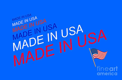Digital Art - Made In Usa by John Shiron