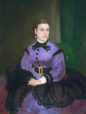 Sitting Painting - Mademoiselle Sicot by Pierre-Auguste Renoir