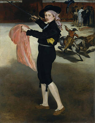 Bullfighter Portrait Painting - Mademoiselle V. . . In The Costume Of An Espada by Edouard Manet
