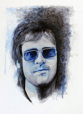 Elton John Painting - Madman Across The Water by William Walts