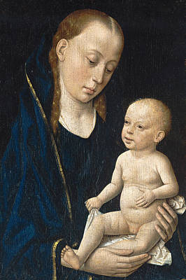 Child Jesus Painting - Madonna And Child by Dieric Bouts
