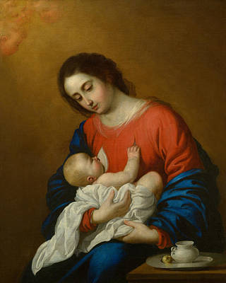 Painting - Madonna And Child by Francisco de Zurbaran