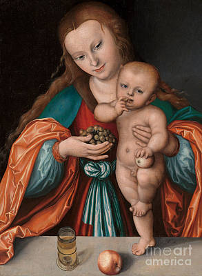 Tumbler Painting - Madonna And Child by Lucas the Elder Cranach