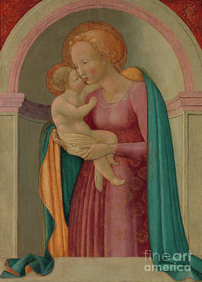 Jesus Art Painting - Madonna And Child  by Master of the Lanckoronski Annunciation