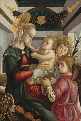 Painting - Madonna And Child With Angels by Sandro Botticelli