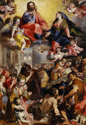 Painting - Madonna Of The People by Federico Barocci