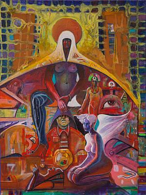 The Universe Painting - Madonna by Ovidiu Panighiant