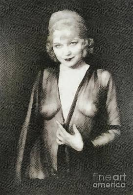 Musicians Royalty Free Images - Mae West, Vintage Actress Royalty-Free Image by John Springfield