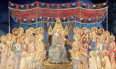 Surrounding Painting - Maesta by Simone Martini