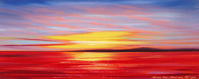 Painting - Magic At Sunset by Gina De Gorna