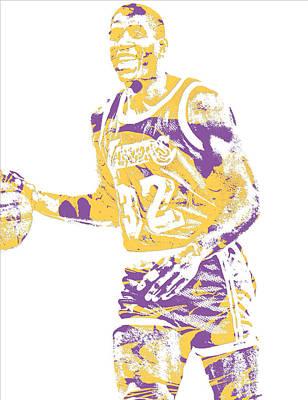 Magic Johnson Los Angeles Lakers Pixel Art 5 Art Print