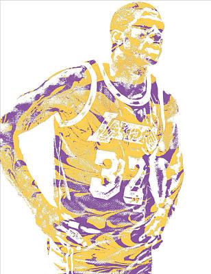 Magic Johnson Los Angeles Lakers Pixel Art 6 Art Print