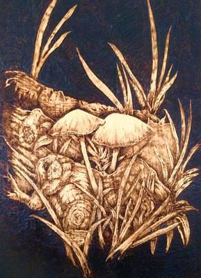 Magic Mushrooms Original by Dan LaTour