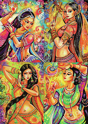 Indian Woman Wall Art - Painting - Magic Of Dance by Eva Campbell