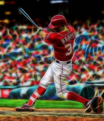 Bryce Harper Painting - Magical Bryce Harper by Paul Van Scott