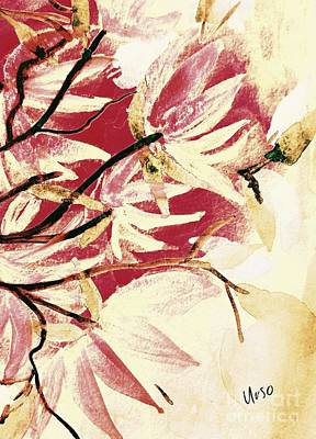 Mixed Media - Magnolia Abstract by Maria Urso