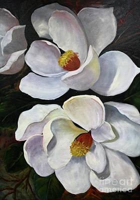 Painting - Magnolias by Barbara Haviland