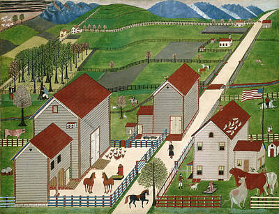 Painting - Mahantango Valley Farm by American 19th Century