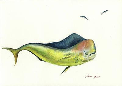 Dolphin Wall Art - Painting - Mahi Mahi Fish by Juan Bosco