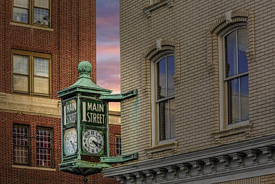 Photograph - 1 Main Street Clock by Susan Candelario