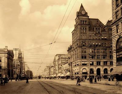 Photograph - Main Street - Dayton Ohio 1902 by L O C