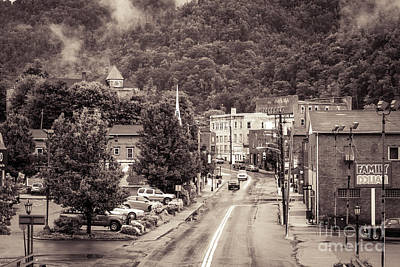 Art Print featuring the photograph Main Street Webster Springs by Thomas R Fletcher
