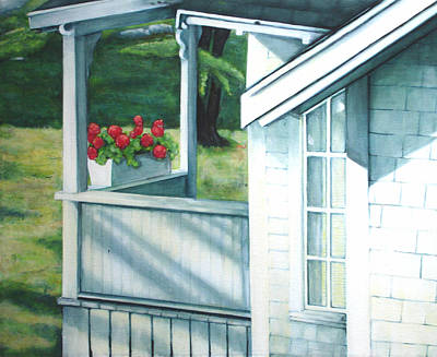 Maine Porches Number One Art Print by Leo Malboeuf