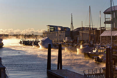 Photograph - Maine Wharf by Ed Fletcher