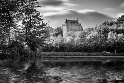 Photograph - Reflection Mains Castle East Kilbride, Scotland by Alex Saunders