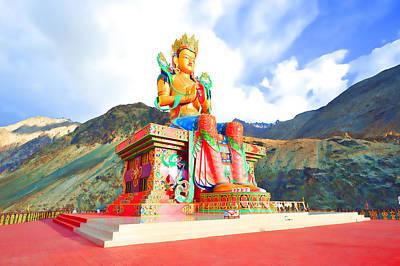 Large Buddha Painting - Maitreya Buddha 1 by Lanjee Chee