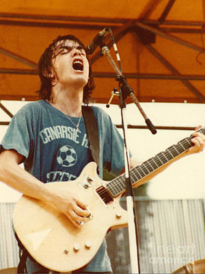 Photograph - Malcolm Young Of Ac Dc At Day On The Green - July 1979 by Daniel Larsen